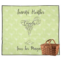 Margarita Lover Outdoor Picnic Blanket (Personalized)