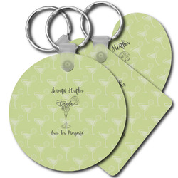Margarita Lover Plastic Keychains (Personalized)