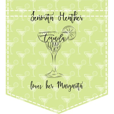 Margarita Lover Iron On Faux Pocket (Personalized)
