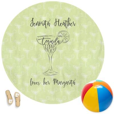 Margarita Lover Round Beach Towel (Personalized)