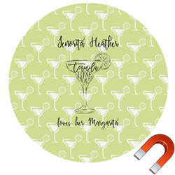 Margarita Lover Round Car Magnet (Personalized)