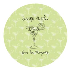 Margarita Lover Round Decal - Custom Size (Personalized)