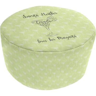Margarita Lover Round Pouf Ottoman (Personalized)