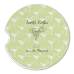 Margarita Lover Sandstone Car Coasters (Personalized)