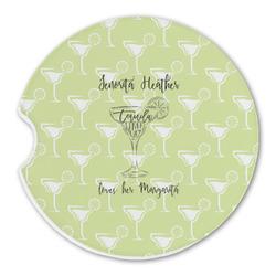Margarita Lover Sandstone Car Coasters (Personalized)