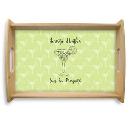 Margarita Lover Natural Wooden Tray (Personalized)