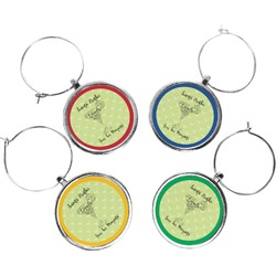 Margarita Lover Wine Charms (Set of 4) (Personalized)