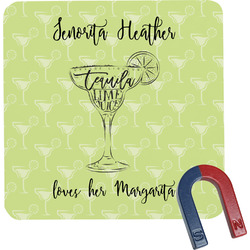 Margarita Lover Square Fridge Magnet (Personalized)