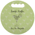 Margarita Lover Stadium Cushion (Round) (Personalized)