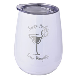 Margarita Lover Stemless Wine Tumbler - 5 Color Choices - Stainless Steel  (Personalized)