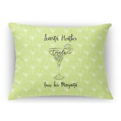 Margarita Lover Rectangular Throw Pillow Case (Personalized)