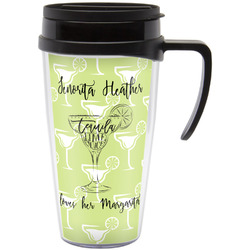 Margarita Lover Travel Mug with Handle (Personalized)