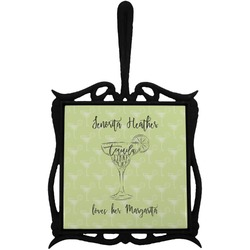 Margarita Lover Trivet with Handle (Personalized)