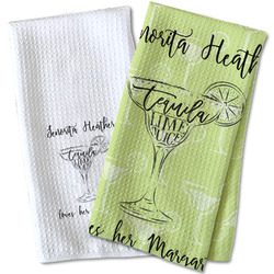 Margarita Lover Waffle Weave Kitchen Towel (Personalized)
