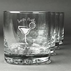 Margarita Lover Whiskey Glasses (Set of 4) (Personalized)