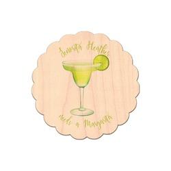 Margarita Lover Genuine Maple or Cherry Wood Sticker (Personalized)