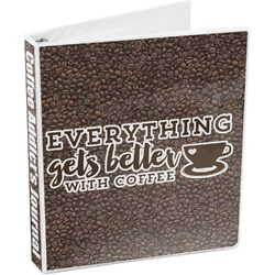 Coffee Addict 3-Ring Binder (Personalized)