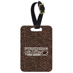 Coffee Addict Aluminum Luggage Tag (Personalized)