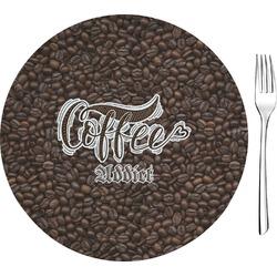 Coffee Addict Glass Appetizer / Dessert Plates 8