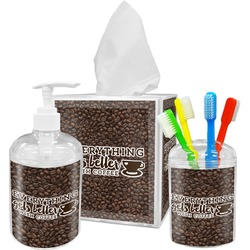 Coffee Addict Bathroom Accessories Set (Personalized)
