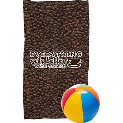 Coffee Addict Beach Towel (Personalized)