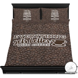 Coffee Addict Duvet Cover Set (Personalized)