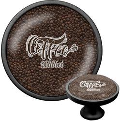 Coffee Addict Cabinet Knob (Black) (Personalized)