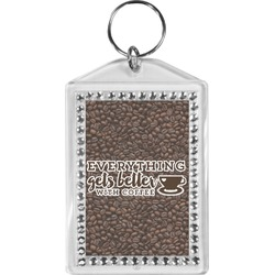 Coffee Addict Bling Keychain (Personalized)
