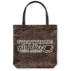 Coffee Addict Canvas Tote Bag (Personalized)