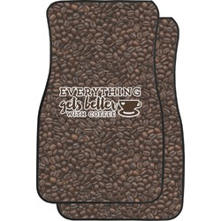 Coffee Addict Car Floor Mats (Front Seat) (Personalized)