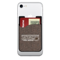 Coffee Addict Cell Phone Credit Card Holder (Personalized)