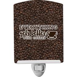 Coffee Addict Ceramic Night Light (Personalized)