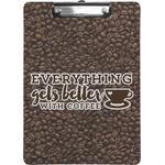 Coffee Addict Clipboard (Personalized)