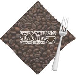 Coffee Addict Napkins (Set of 4) (Personalized)