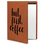Coffee Addict Leatherette Portfolio with Notepad (Personalized)