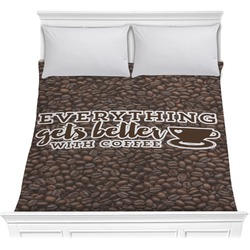 Coffee Addict Comforter (Personalized)