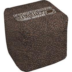 Coffee Addict Cube Pouf Ottoman (Personalized)