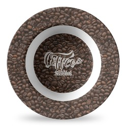 Coffee Addict Plastic Bowl - Microwave Safe - Composite Polymer (Personalized)