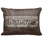 "Coffee Addict Decorative Baby Pillowcase - 16""x12"" (Personalized)"
