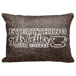 "Coffee Addict Decorative Baby Pillowcase - 16""x12"" (Personalized)"