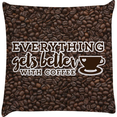 Coffee Addict Decorative Pillow Case (Personalized)