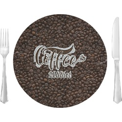 Coffee Addict Glass Lunch / Dinner Plates 10