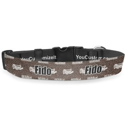 Coffee Addict Deluxe Dog Collar (Personalized)