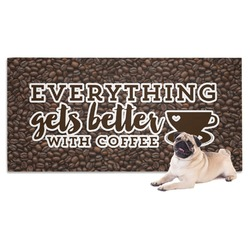 Coffee Addict Dog Towel (Personalized)
