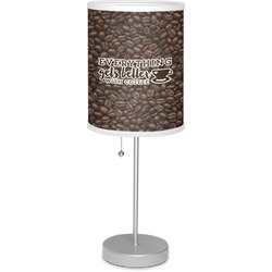 "Coffee Addict 7"" Drum Lamp with Shade (Personalized)"