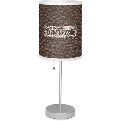 """Coffee Addict 7"""" Drum Lamp with Shade (Personalized)"""