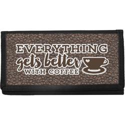 Coffee Addict Canvas Checkbook Cover (Personalized)
