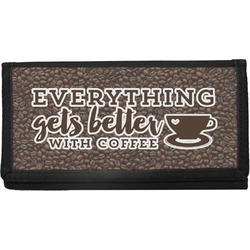 Coffee Addict Canvas Checkbook Cover (Personalized)