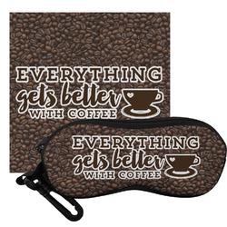 Coffee Addict Eyeglass Case & Cloth (Personalized)