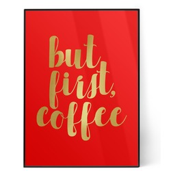 Coffee Addict 5x7 Red Foil Print (Personalized)